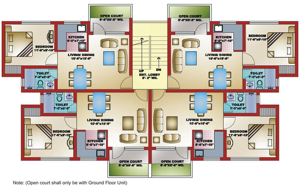 2 Bedroom ApartmentHouse Plans  Interior Design Ideas